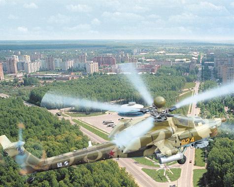 МИ-28Н СМПП над Ступином.