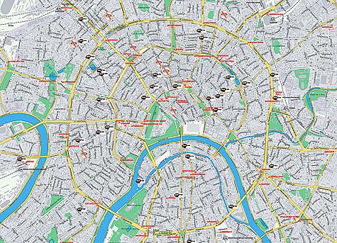 Карта жд москвы