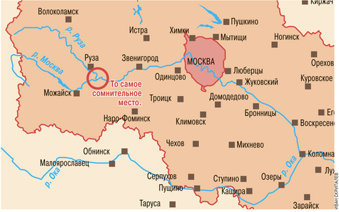 Схема карта рек москвы