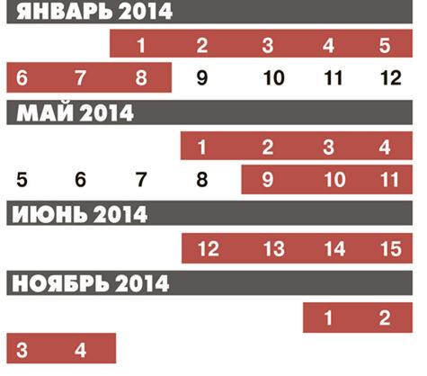 28 марта 00:32.  Минтруда и социальной защиты России подготовило проект праздничных дней на 2014 год.