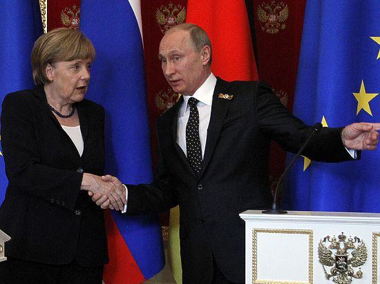 Путин и Меркель поспорили о Крыме и пакте Молотова-Риббентропа