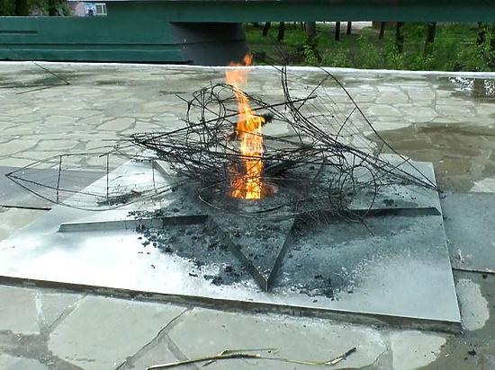 Подростки из Алексина жарили картошку в траурных венках от Вечного огня