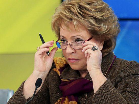 Слова Матвиенко про внеочередное заседание СФ не связаны с Украиной