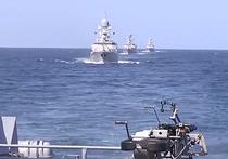 Минобороны показало голливудское видео массированного удара по Сирии с Каспия