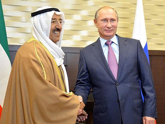 Эмир Кувейта поковырялся в зубах перед Путиным