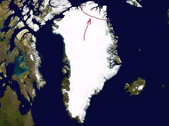 Расколовшийся в Гренландии ледник может поднять мировой океан на полметра