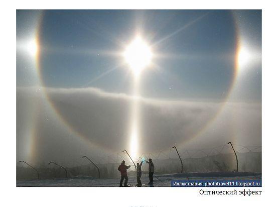 Над Сибирью и Уралом сегодня взошли сразу три солнца