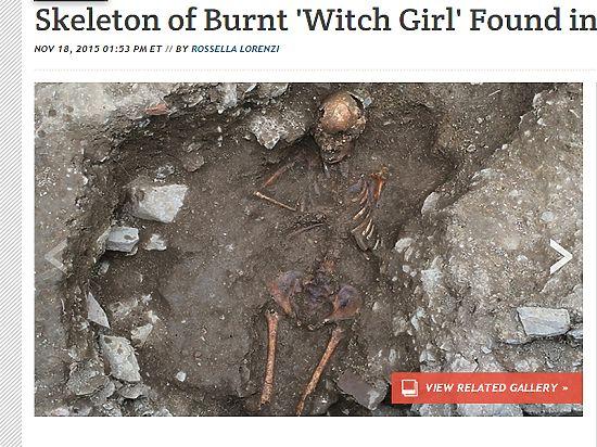 Ватиканские археологи нашли захоронение 13-летней ведьмы