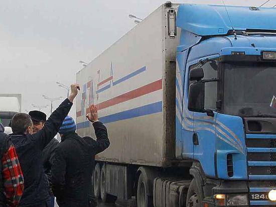 Разочарованные посланием Путина дальнобойщики начали марш на Москву