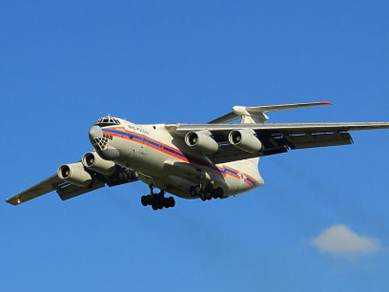 Ил-76 МЧС России осуществляет санитарно-авиационную эвакуацию 20 тяжелобольных детей из Ростова-на-Дону в Москву