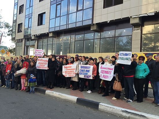 В Геленджике протестуют владельцы квартир в доме, сноса которого добивается мэрия