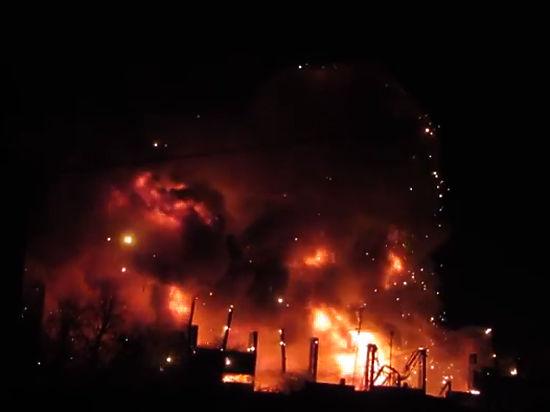 Тушинский завод феерически сгорел из-за дизельного топлива