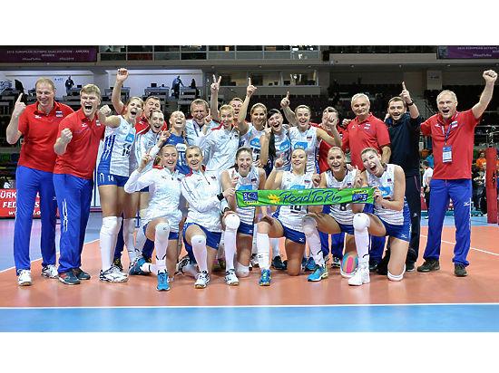 Волейболистки сборной России первыми получили путевку на Олимпийские игры