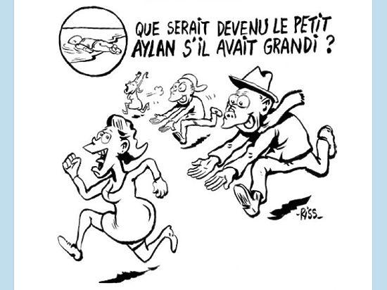 Charlie Hebdo опубликовал провокационный рисунок, посвященный секс-террору мигрантов