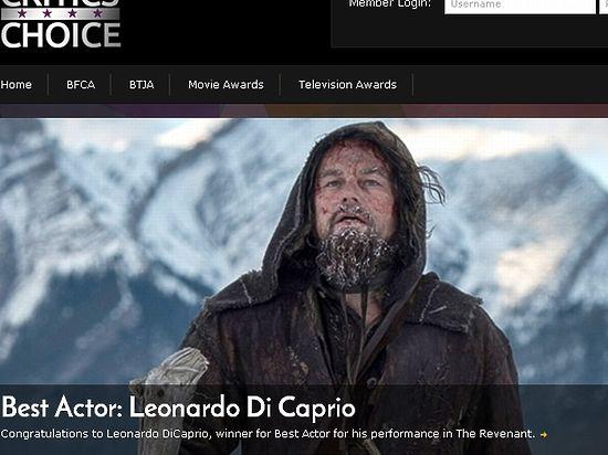 Кинокритики признали Леонардо ди Каприо лучшим актёром года
