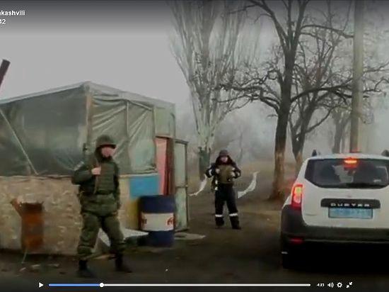 «Рассекреченные» Саакашвили блокпосты оказались УАЗиком с туалетом в кустах