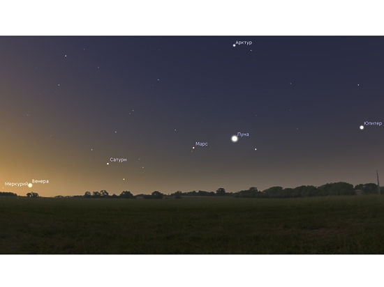 Редкий парад планет начнется 31 января