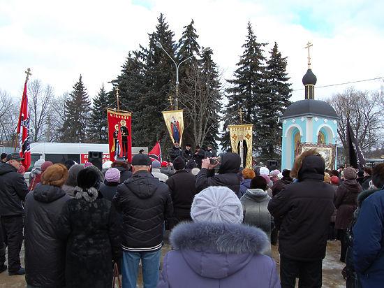 В Подмосковье состоялся митинг против закрытия кладбища