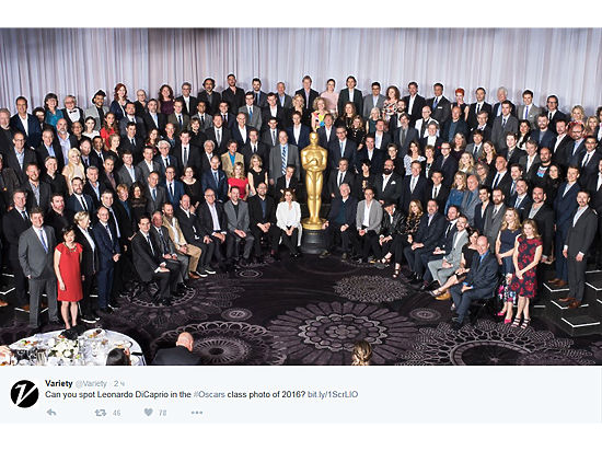 "Ужин номинантов на ""Оскар""."