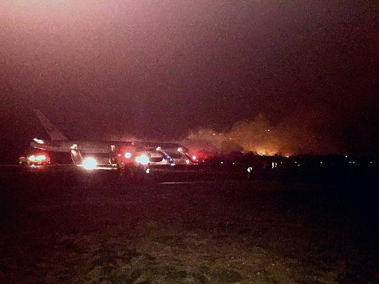 Опубликовано видео экстренной эвакуации пассажиров из горящего российского «Боинга»