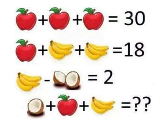 Решена самая популярная в Facebook задача про бананы и кокосы