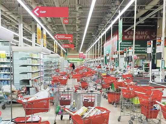При угрозе взрыва вынести халявные продукты из супермаркета не удастся