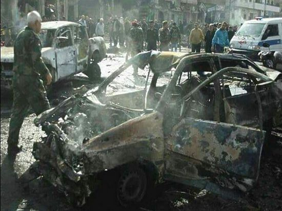 В Сети появилось видео с места терактов в Дамаске
