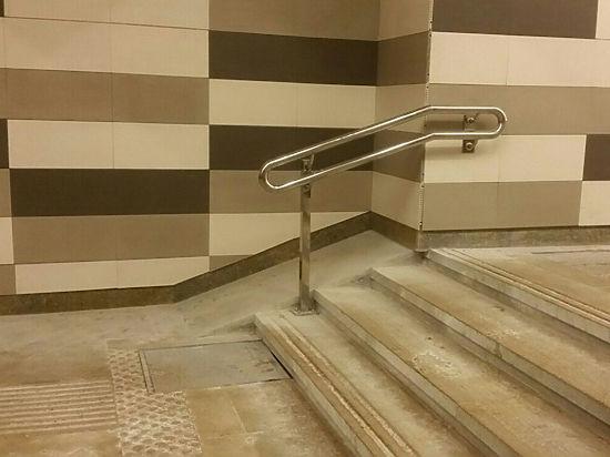 На станции московского метро обнаружили пандус, упирающийся в стену