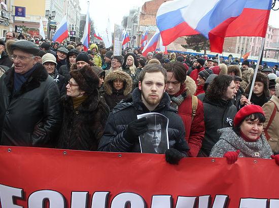 Митинг-шествие памяти Бориса Немцова прошел в Нижнем Новгороде