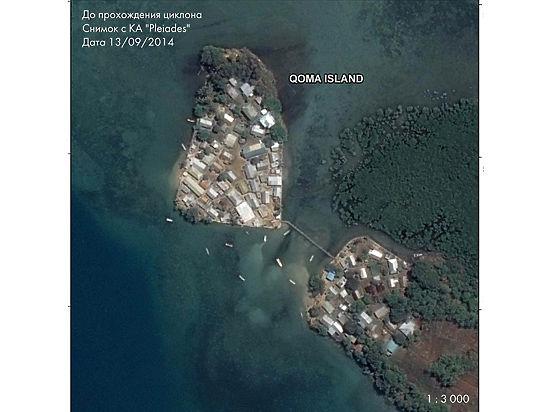 Российские спутники передали на Землю полную картину разрушения островов Фиджи