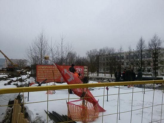 Ради строительства магистрали в Раменках снесли мемориал Победы