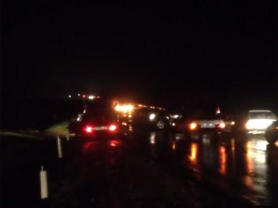 Появилось видео подрыва полицейских машин в Дагестане