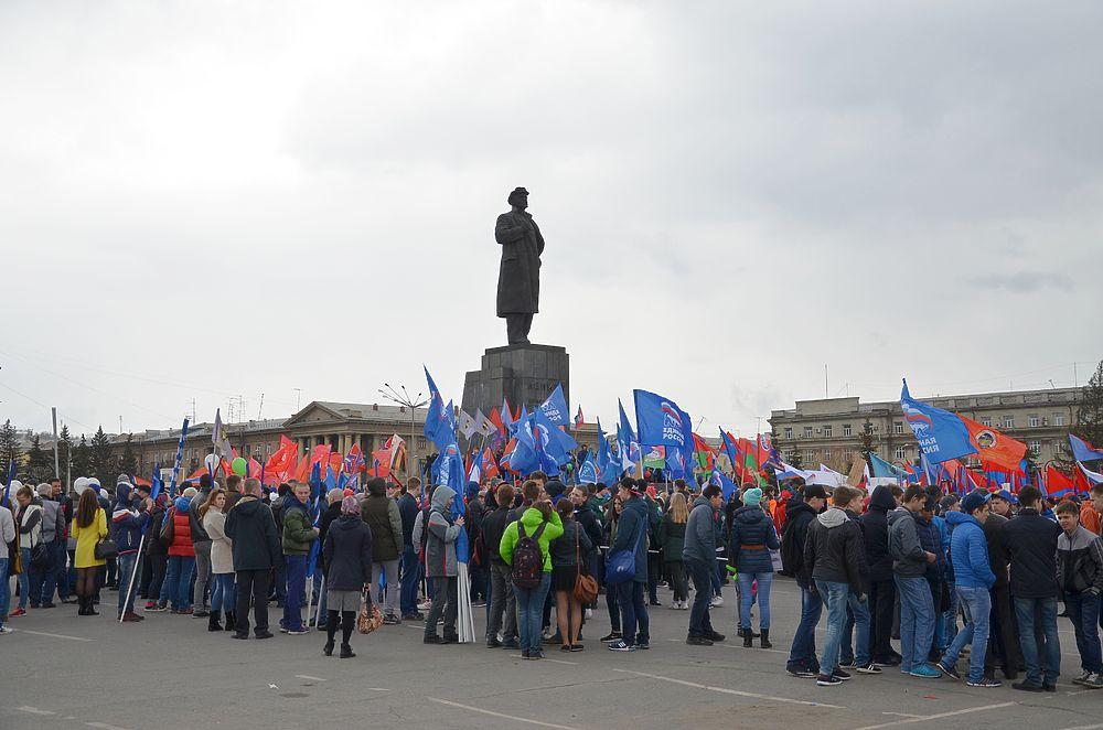 Демонстрация 1 мая 2016 года в Красноярске