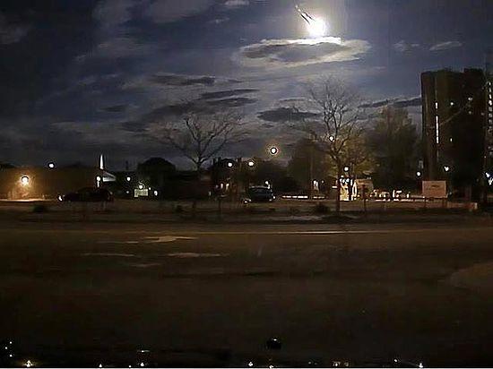 Появилось видео падения метеорита в США размером с холодильник