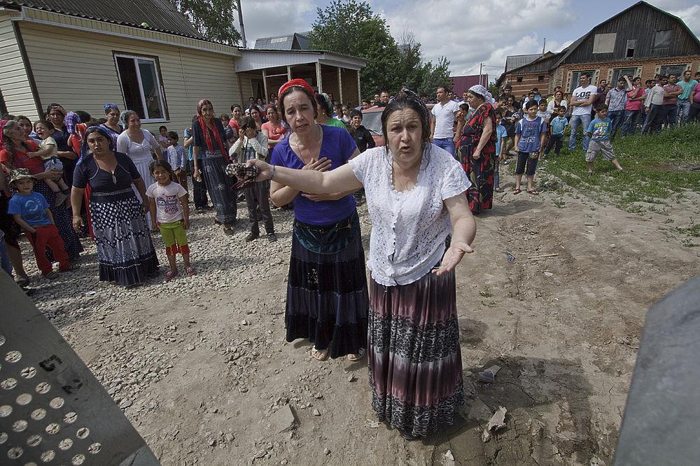 Снос цыганских домов в Плеханове Зареченского округа Тулы