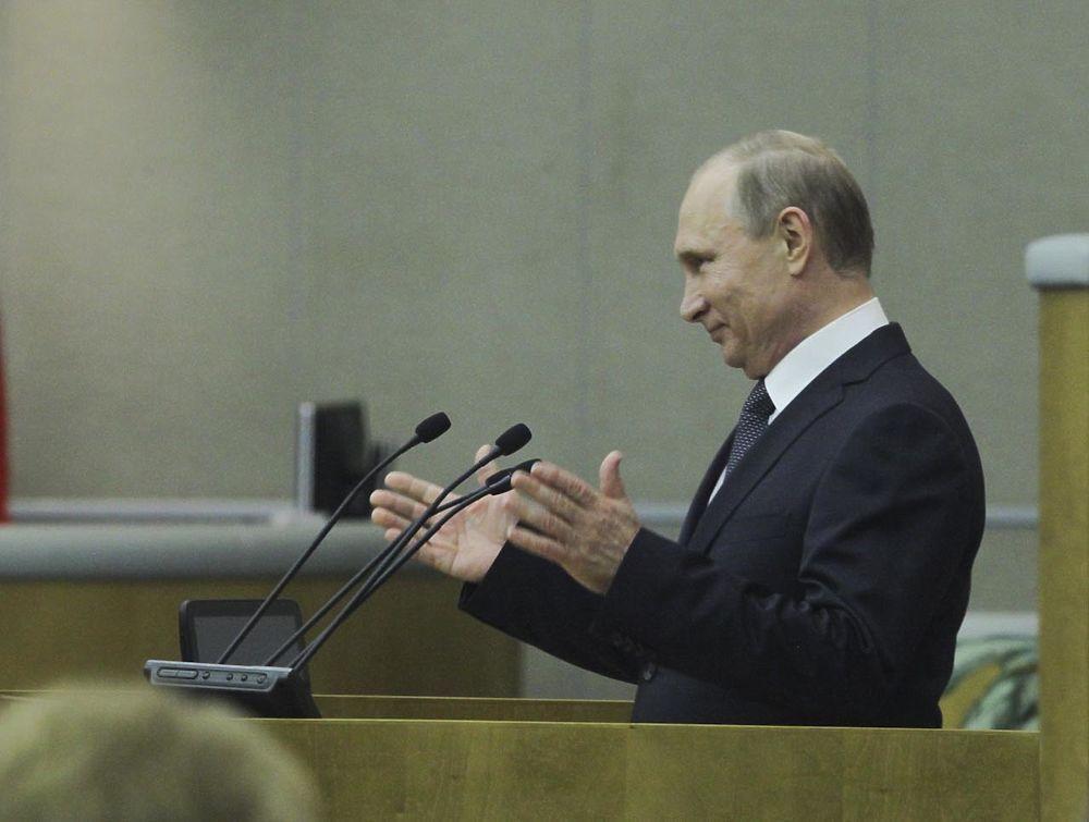 Путин выступил перед депутатами Госдумы перед каникулами
