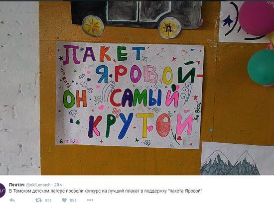 Томский лагерь опроверг данные оконкурсе рисунков вподдержку «пакета Яровой»