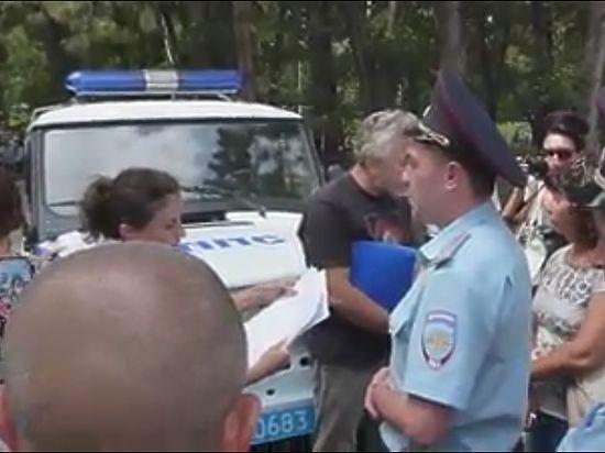 ВКрыму разогнали согласованный свластью митинг