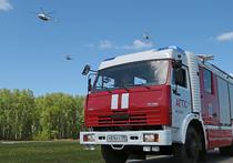 Пожар в новой Москве тушили три вертолета, произошло обрушение конструкций