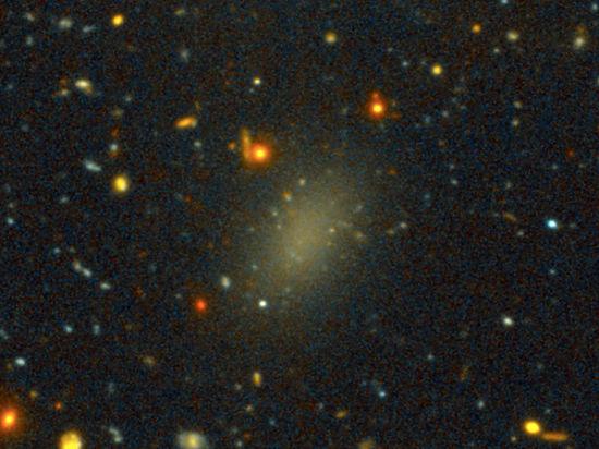 Открыта галактика из черной материи