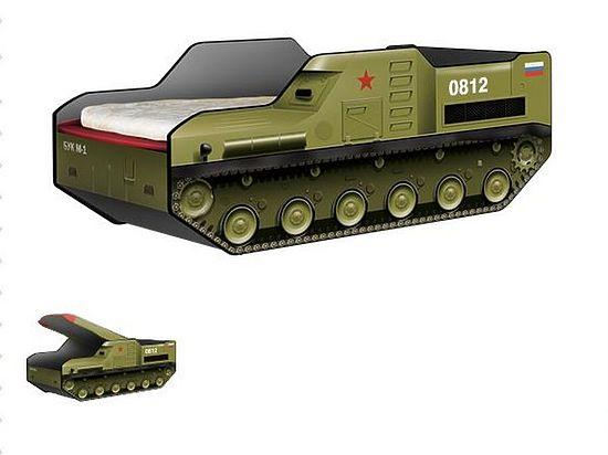 В Российской Федерации сконструировали детскую кровать вформе ракетного комплекса «Бук»