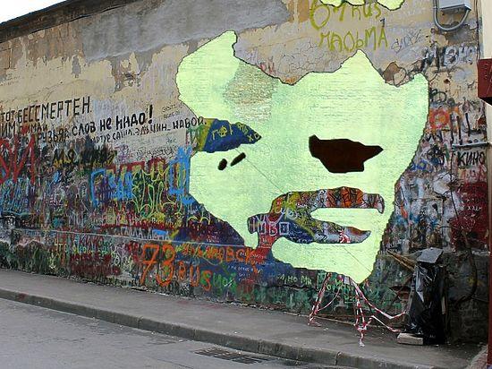 В столице России стена Виктора Цоя будет поделена надве части