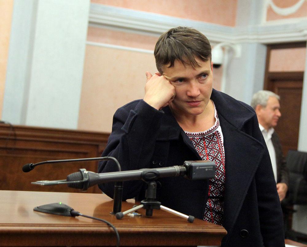 Наряд Надежды Савченко на заседании Верховного суда выглядит экзотически