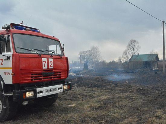 Пожар под Тверью унес жизни женщины и пятерых детей