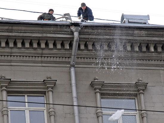 Экономия на очистке крыш может довести до беды