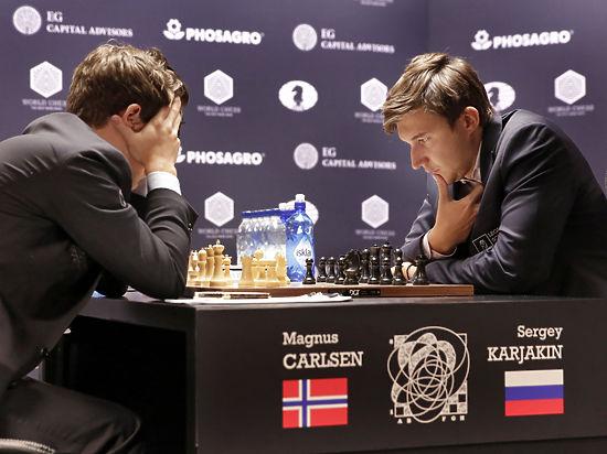 Шахматы: Карякин свел матч вничью, но применил оружие Карлсена