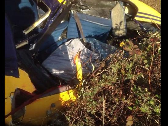 Падение вертолета в Крыму привело к жертвам