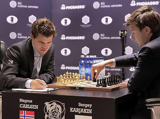Карякин—Карлсен: в 12-й партии никто не хотел рисковать
