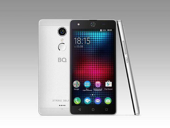 В России стартуют продажи смартфона BQ Strike Selfie