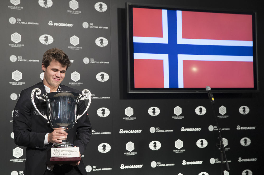 Длительное противостояния российского и норвежского гроссмейстеров завершилось.